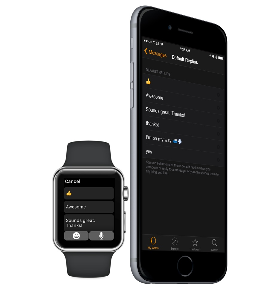 Customize your default text message replies on Apple Watch