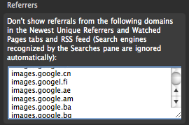 Google Images websites to not show in the unique referrals list