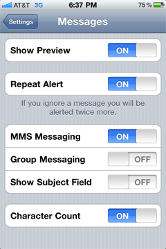 turn off group messaging iphone iphone s messaging in ios 4 shawn blanc 8817