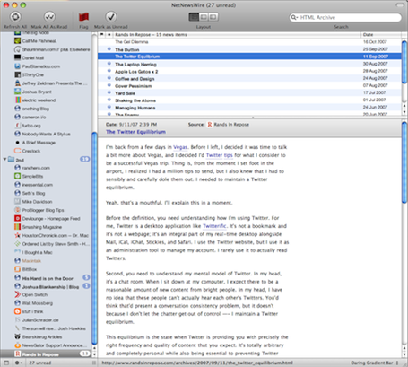 NetNewsWire 3.1 Screenshot