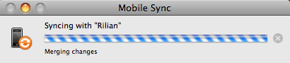 Things syncing on a Mac. It almost looks like it's spinning, doesn't it?