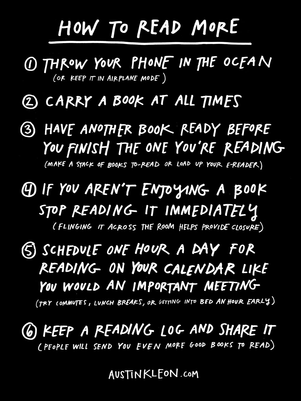 Austin Kleon how to read more