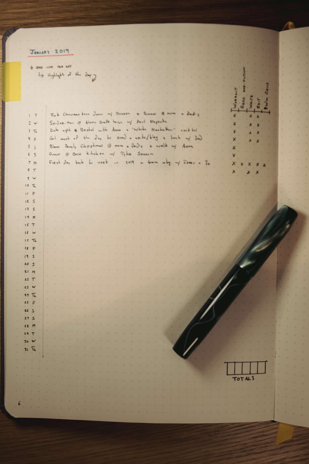 Bullet Journal Daily Habit Tracking