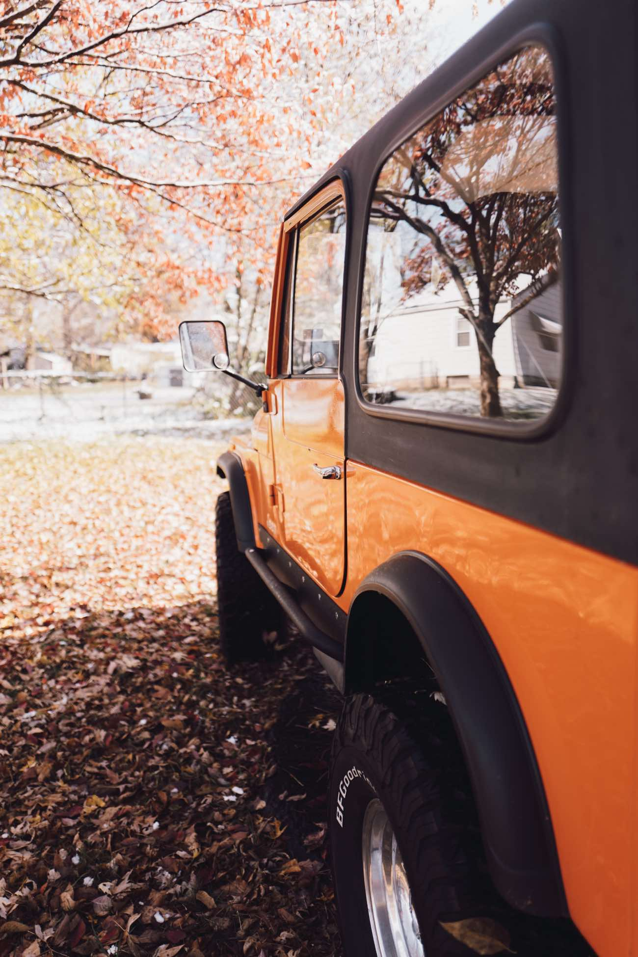 Orange Jeep CJ-7